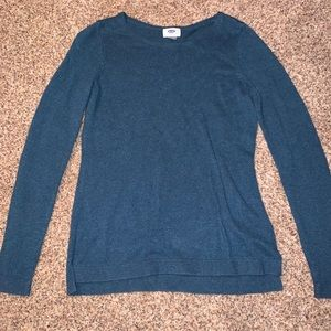 old navy blue knit sweater